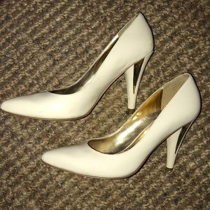 Off White Pointy Heels